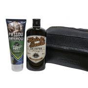 Kit Shampoo Sailor Jack + Hidratante para Tatuagem M.Boah + Necessarie de Couro