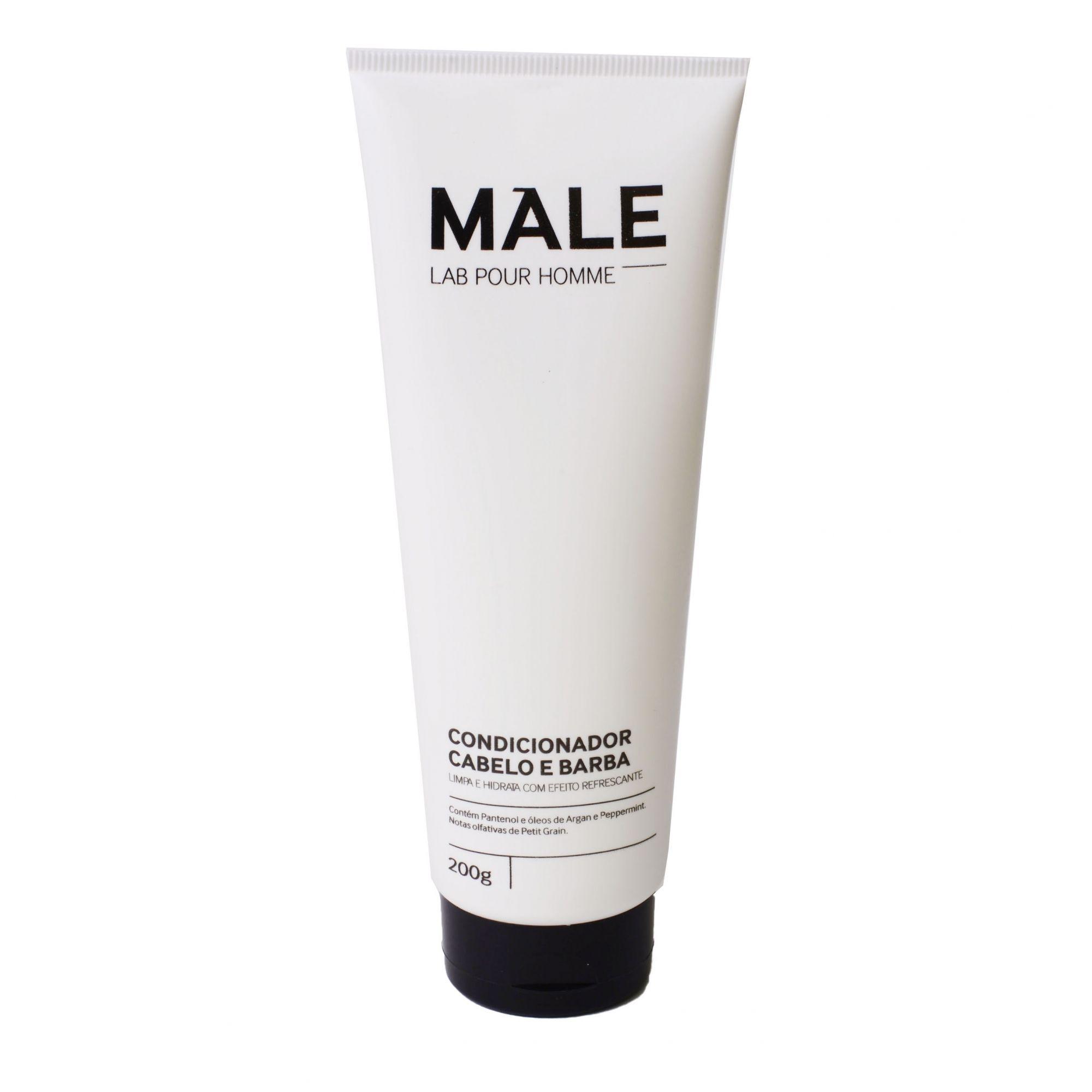 Condicionador Cabelo e Barba   Male Lab Pour Homme