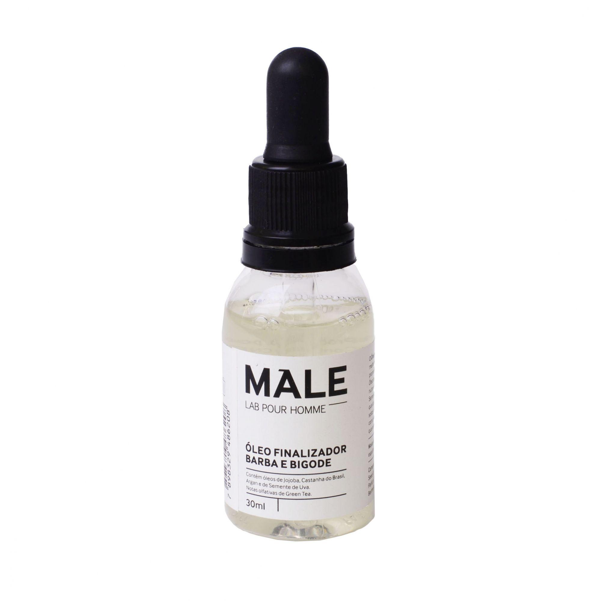 Óleo Finalizador Para Barba e Bigode   Male Lab Pour Homme