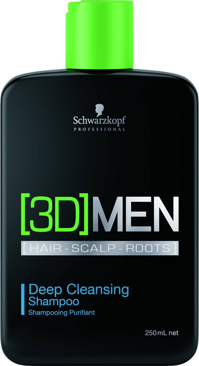 Shampoo Anti-oleosidade 3D Men Deep Cleansing (250ml)   Schwarzkopf Professional