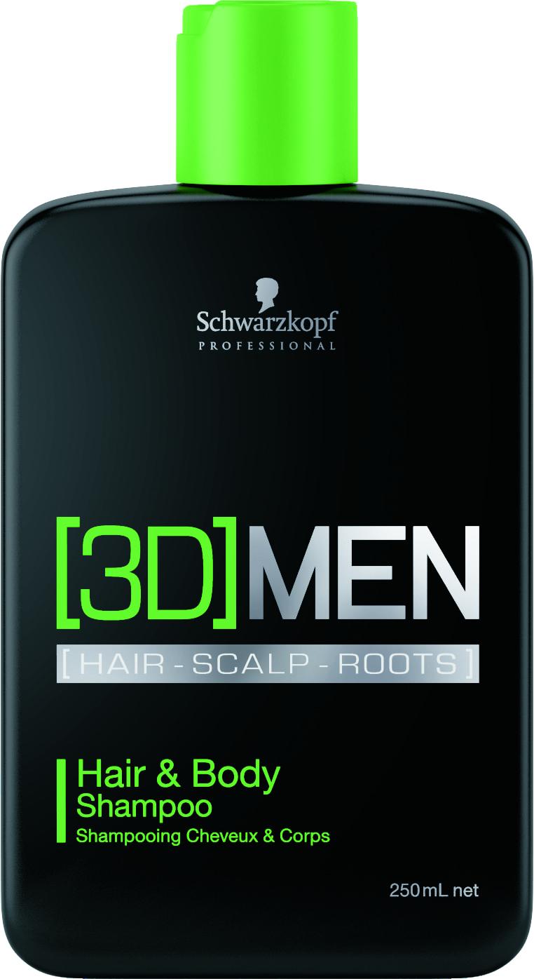 Shampoo Cabelo e Corpo 3D Men Hair & Body (250ml) | Schwarzkopf Professional