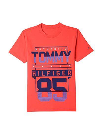 79bfeaa2079a Camiseta Manga Curta Tommy Hilfiger - 5T - 61E54166RED-Camisas ...