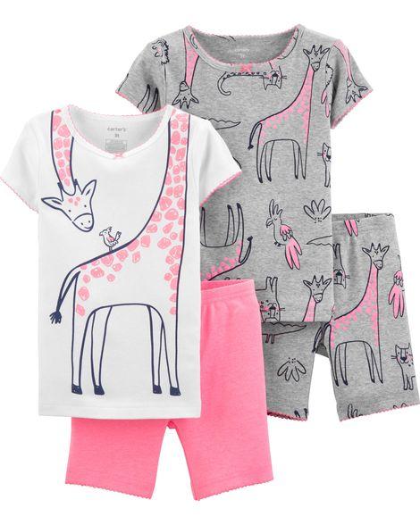 b9ecdd334 Pijama Carters Algodão 4 Peças - 18 Meses - 16417311-Pijamas - Le ...