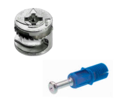 Tambor Bigfix (Minifix) 15x11 mm + Parafuso Rapid S DU324 (25 peças) - BigFer