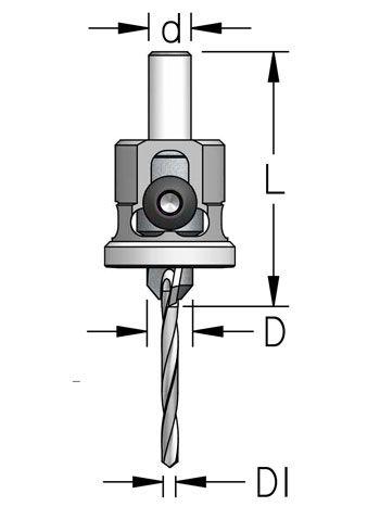 WPW - ESCAREADOR COM STOPPER DE NYLON  9,5MM X 3,2MM - H8/47