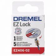 Kit 5 Discos De Corte Ez Lock + Mandril - Ez406-02 - Dremel