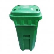 Coletor De Lixo 120 Litros C/ Rodas - Verde