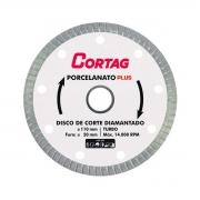 Disco de Corte Diamantado Porcelanato Plus 110 mm - CORTAG