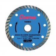Disco de Corte Diamantado Turbo 110 mm - CORTAG