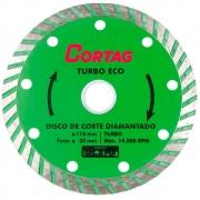Disco de Corte Diamantado Turbo Eco 110mm - CORTAG