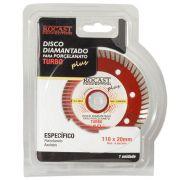 Disco Diamantado P/ Porcelanato Plus 110x20 Turbo - Rocast