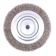 Escova Circular Aço Carbono Ondulado 6 x 3/4 x 5/8 Pol - Abrasfer