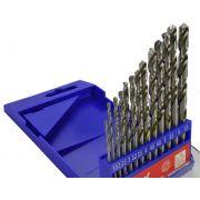 Jogo de Brocas em Aço Rápido com 13 Peças 1.5 a 6.5mm - LOYAL