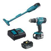 Kit a Bateria Aspirador/Parafusadeira Furadeira Impacto - Makita