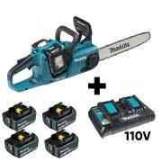 Kit Motossera a Bateria 36V com Maleta 4 Baterias e Carregador