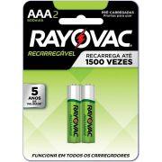 Pilhas Recarregáveis Econômicas Aaa 1,2v - Rayovac - 2 Un.