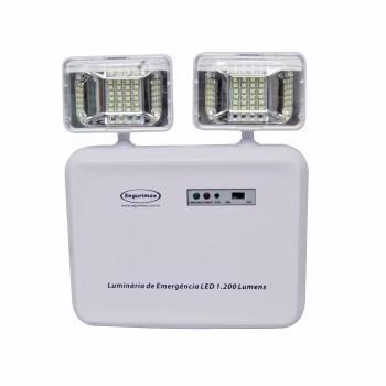 Luminária De Emergência Led 1.200 Lumens 2 Faróis- Segurimax