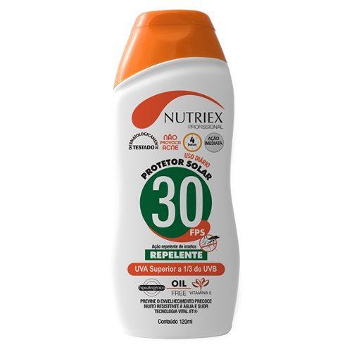 Protetor Solar C/ Repelente Fps30 120ml - Nutriex