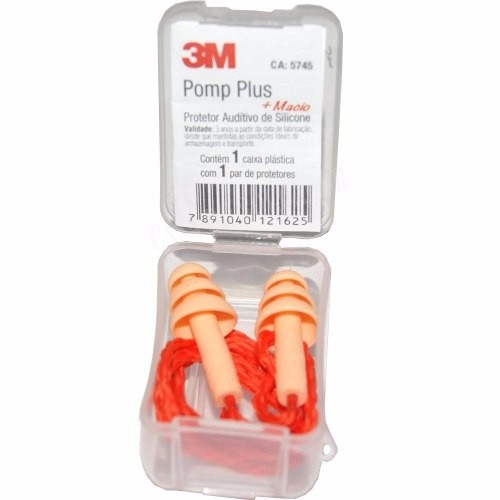 Protetor Auditivo Silicone Com Cordão 3m Pomp Plus
