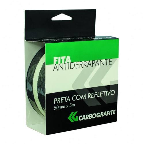 Fita Antiderrapante 50mmx5m-preta C/refletivo-carbografite