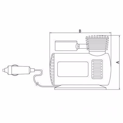 Compressor De Ar Portátil 12v 300psi - Tramontina