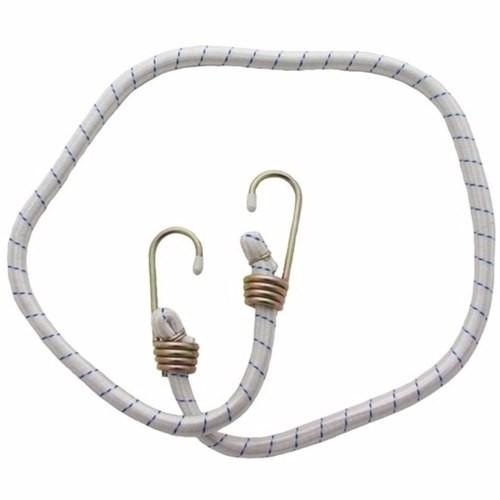 Elástico P/ Carga 2 Ganchos Multiuso 1mt Branco - Lee Tools