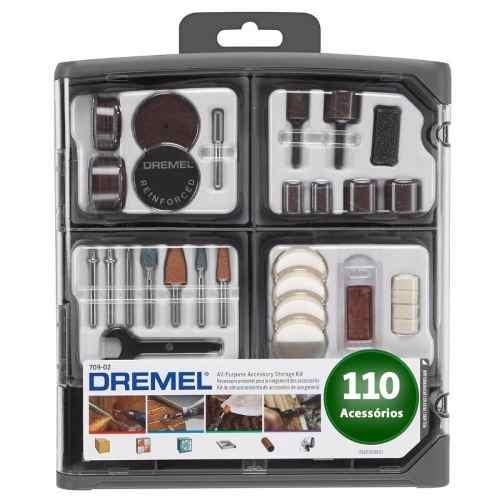 Kit De Acessórios P/ Micro Retíficas - 110 Peças - Dremel