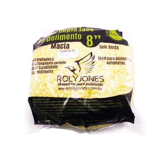 Boina P/ Polimento Dupla Face Fio Macia Amarela - Rolyjones