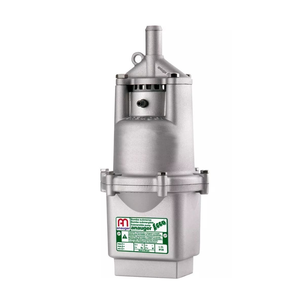 Bomba Submersa Anauger Ecco para poço Potência de 300 Watts 110V