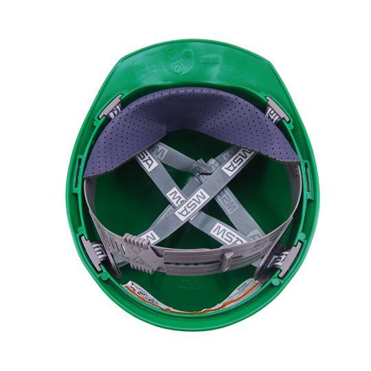 Capacete De Seg. V-Gard Tipo 2, Aba Frontal, Classe B, Verde, Msa