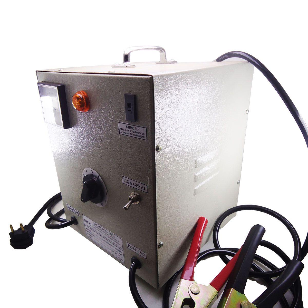 Carregador de Bateria 12V / 50A Irco com Chave 110/220V