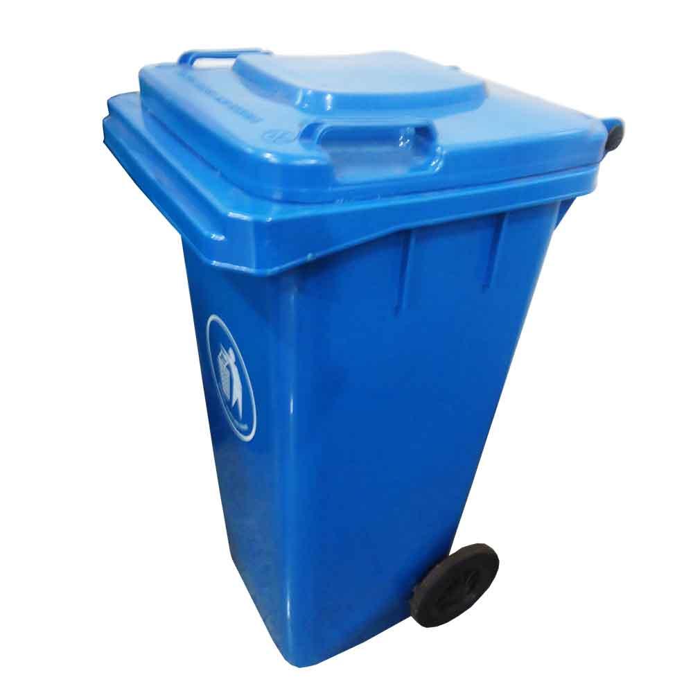 Coletor De Lixo 120 Litros C/ Rodas - Azul