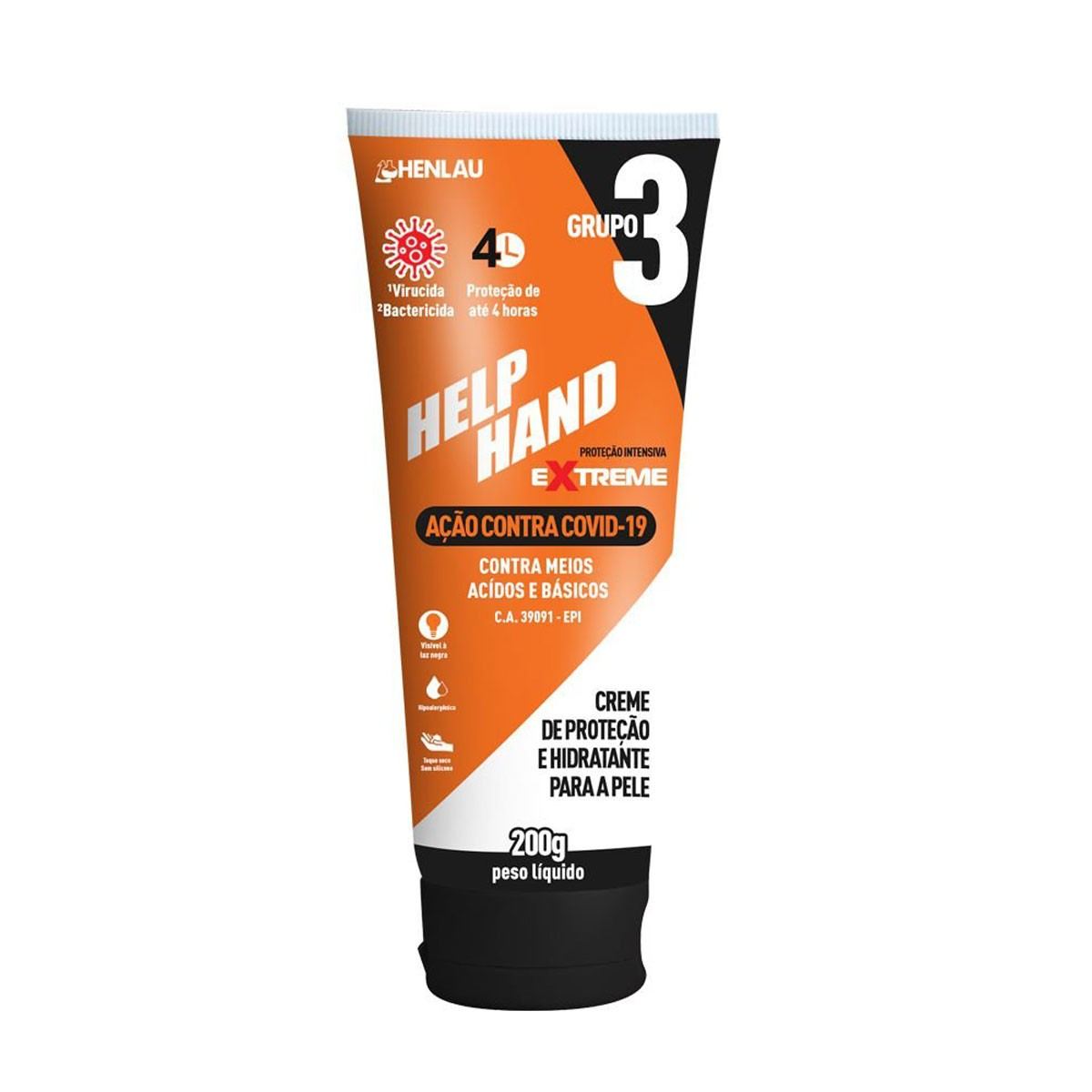 Creme De Proteção Hidratante Contra o Covid-19 Help Hand