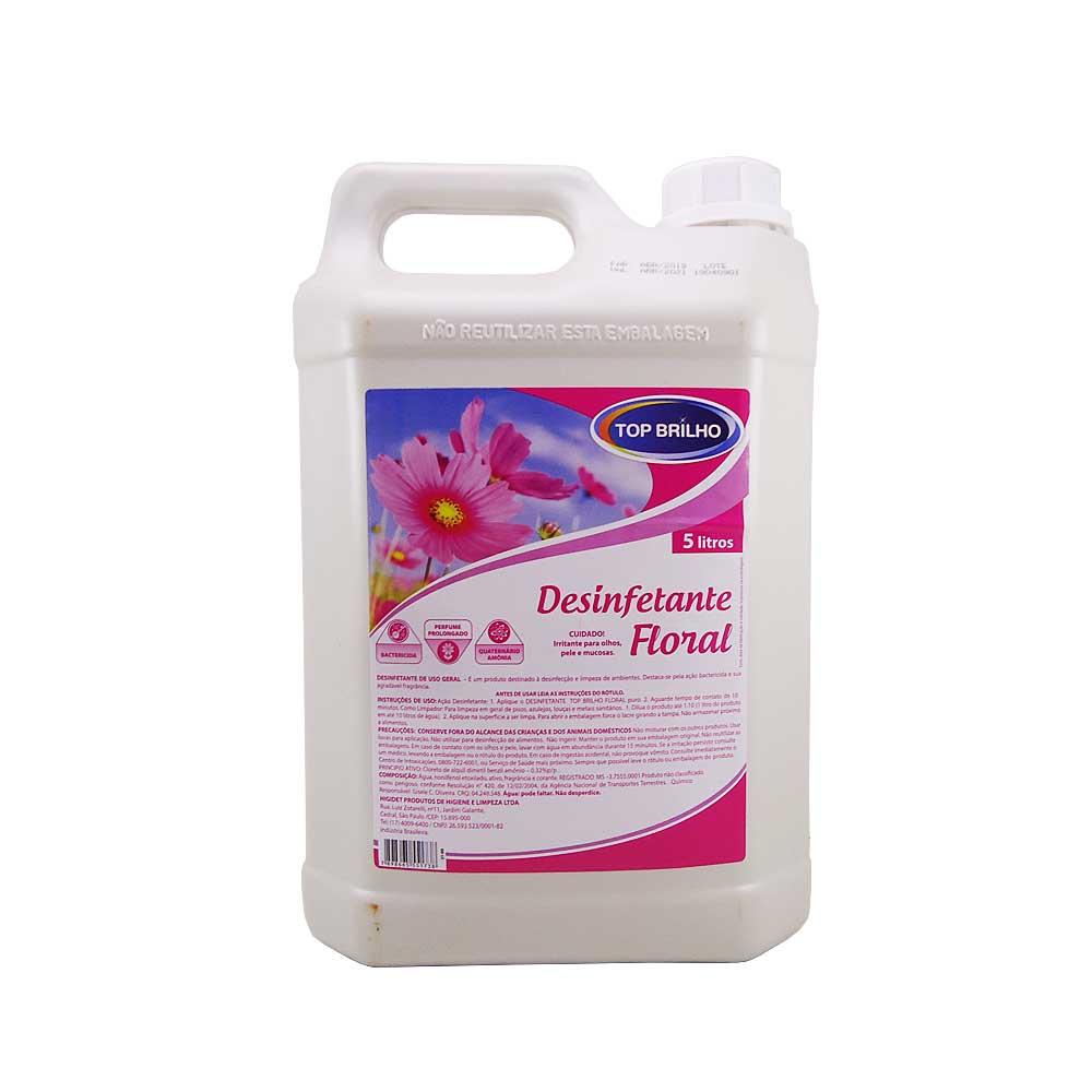 Desinfetante Floral Top Brilho 5 Lts Bactericida