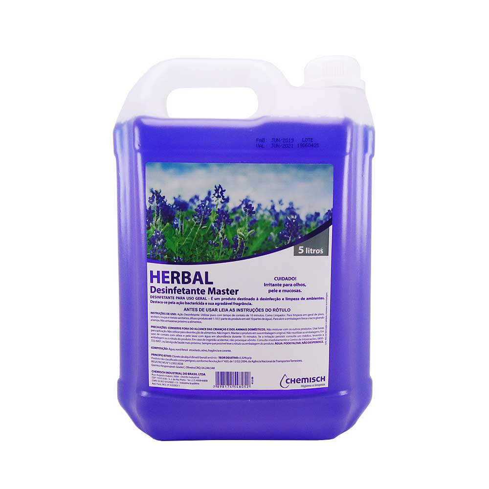 Desinfetante Master Herbal 5 Lts Chemisch