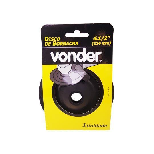 """Disco de Borracha Alto – 4.1/2"""" (114 mm) Vonder"""