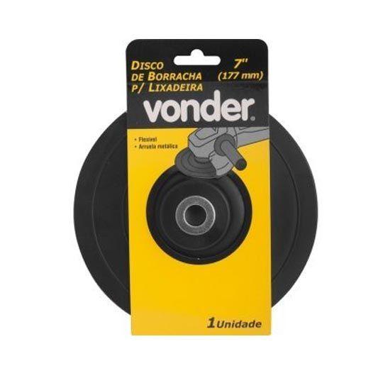 Disco de Borracha p/ Lixadeira  7 (177 mm) Vonder