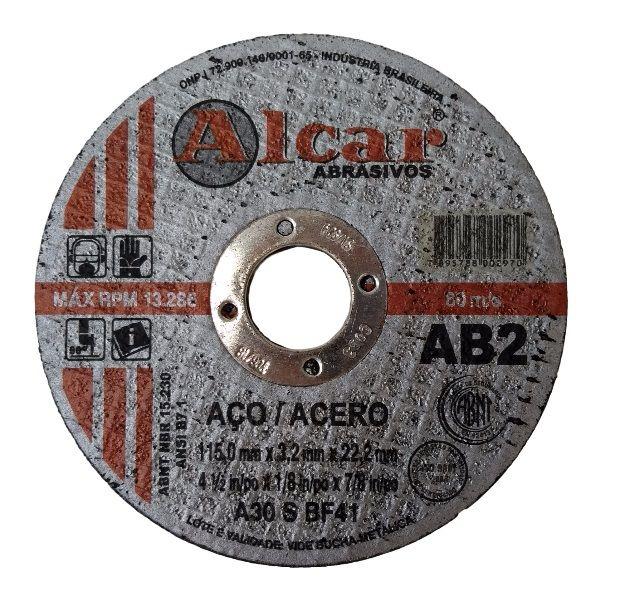 Disco de Corte 4.1/2 Pol. Para Aço - Alcar