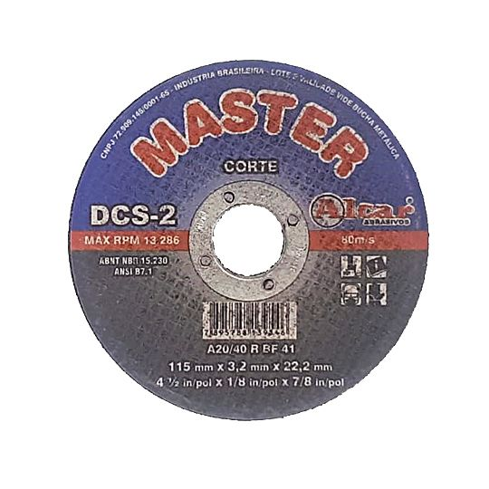 Disco de Corte 4.1/2 Pol. Para metal – Alcar Master