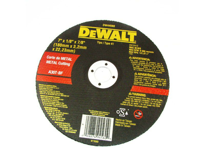 "Disco de Corte Para Metal 7"" X 1/8"" X 7/8"" - Dewalt"