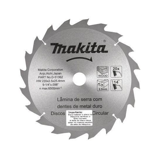 Disco de serra circular, 235 mm x 25 mm, 20D, D 51362, MAKITA