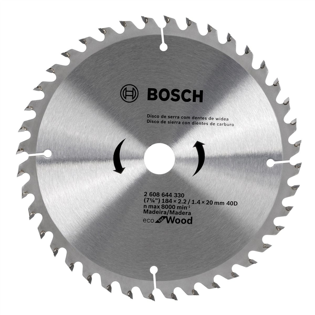 Disco de Serra circular Eco for Wood 184mm 40 Dentes 2608644330 Bosch