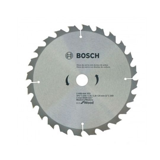 Disco de Serra circular Eco for Wood 235mm 24 Dentes 2608644332 Bosch