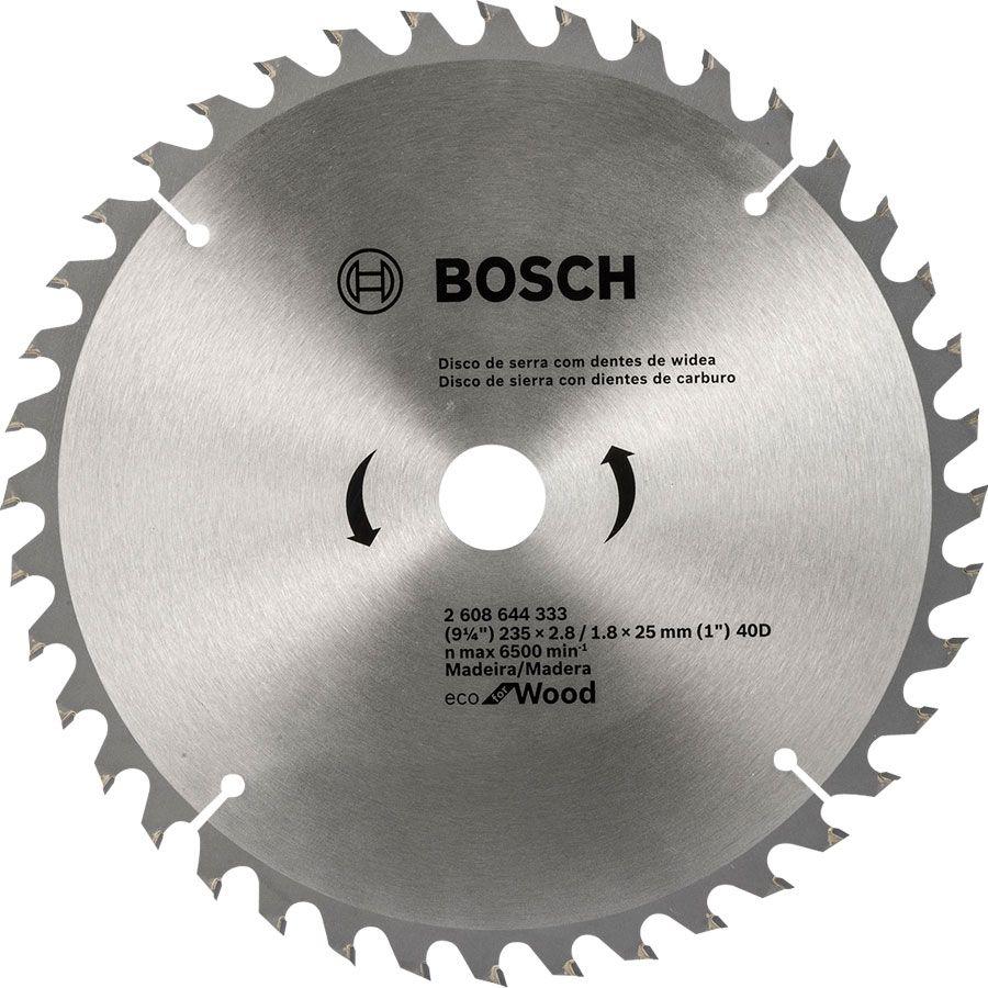 Disco de Serra circular Eco for Wood 235mm 40 Dentes 2608644333 Bosch