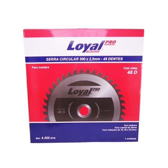 Disco de Serra para madeira  300mm x 2,5mm – 48 dentes - Loyal
