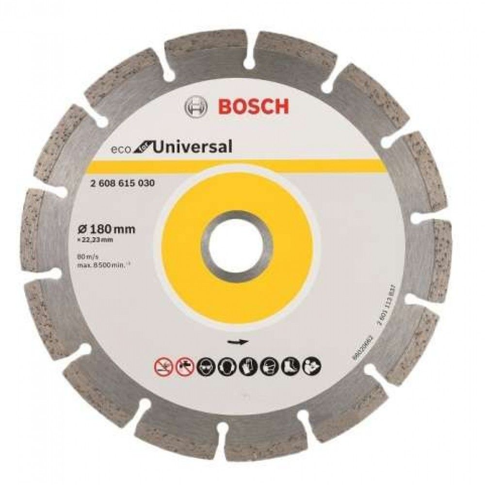 Disco Diamantado 180mm Universal Eco Segmentado 2608615030 – Bosch