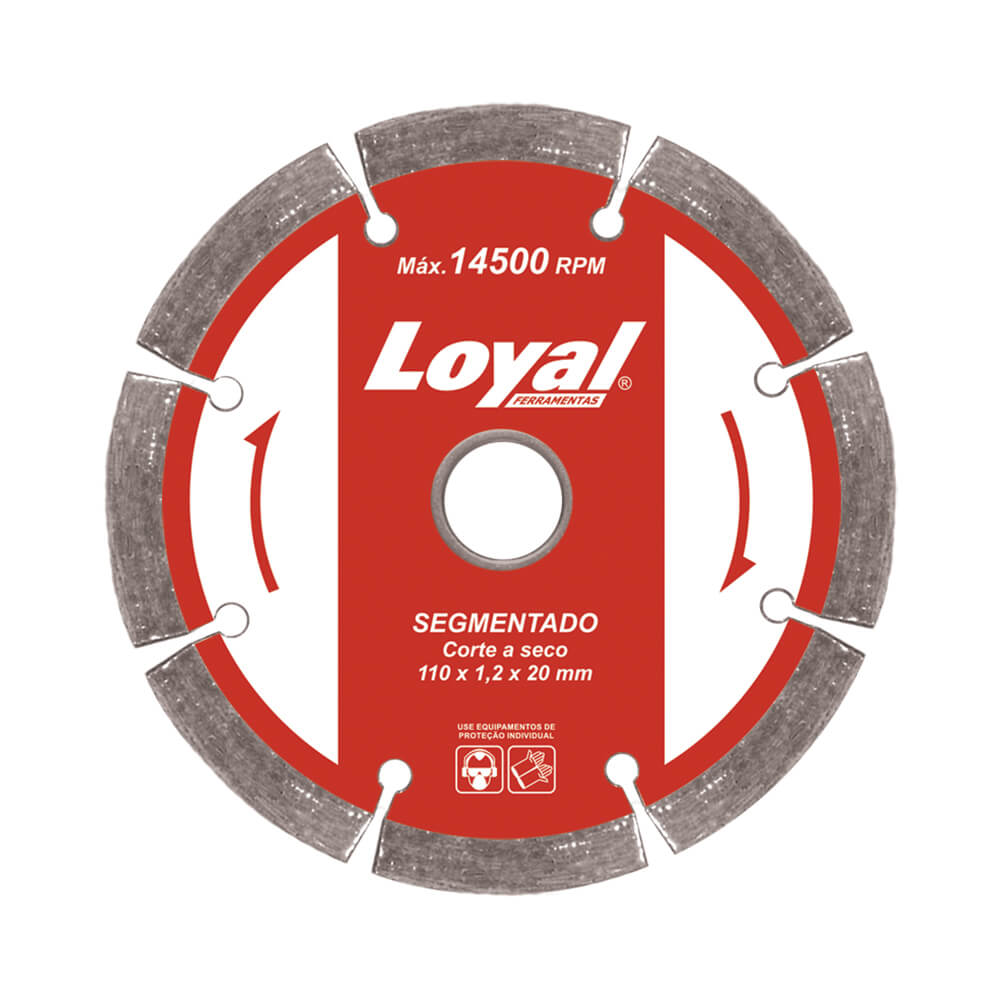 Disco Diamantado p/ Serra Marmore - 110mm Segmentado - Loyal