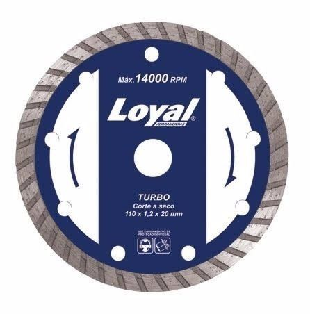 Disco Diamantado P/ Serra Marmore - 110mm Turbo - Loyal