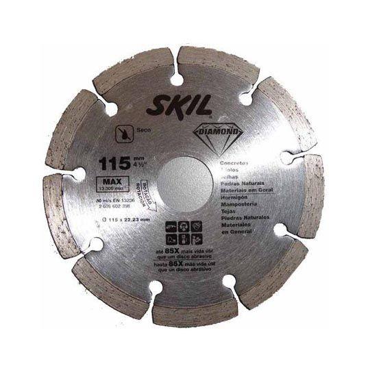 Disco Diamantado Segmentado P/ Esmerilhadeira 115mm – Skil