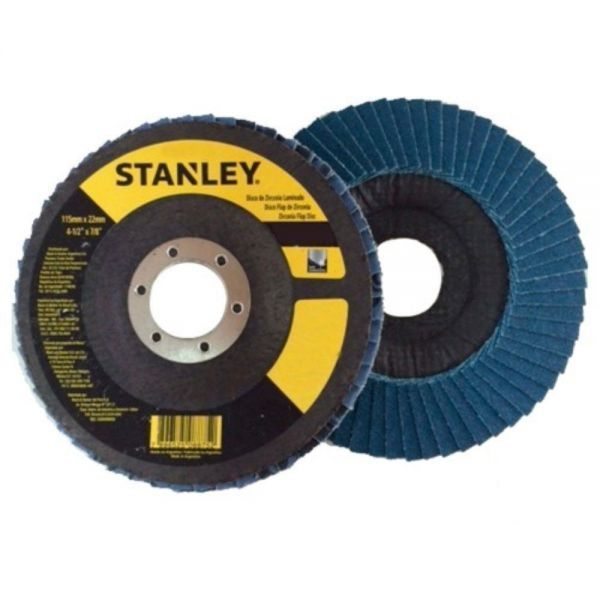 "Disco Flap 4 1/2"" Multiuso Grãos 60 ou 80 Stanley"